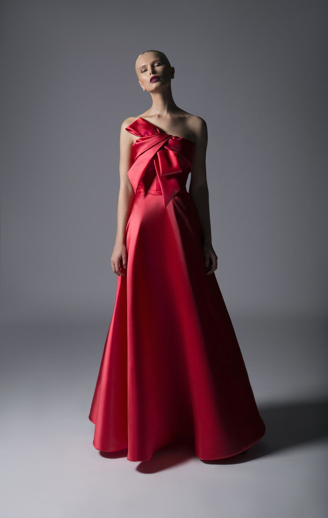 DRAMATIC BOW GOWN