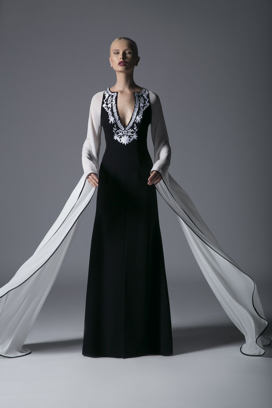 EMBELLISHED SHEATH GOWN