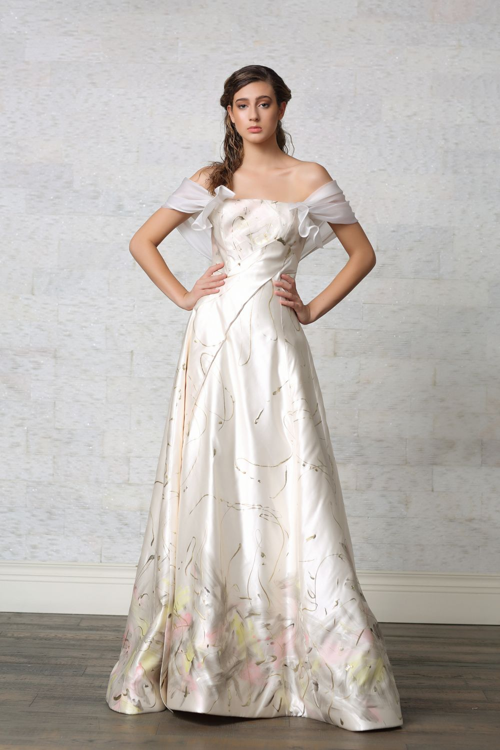 Hand Painted Ball Gown