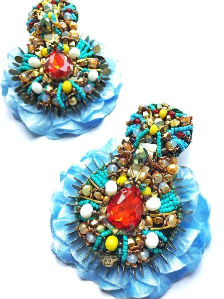 EVELYN EMBELLISHED EARRINGS