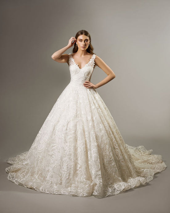 Illusion V-Neck Wedding Gown MAYA