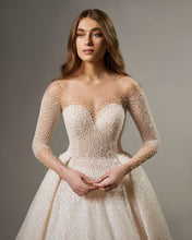 Pearl Beaded Illusion Gown DIAMANTE