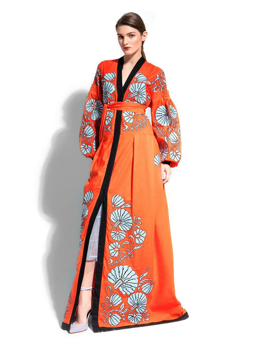 Caftan Dress 'FLOWER SHELL'