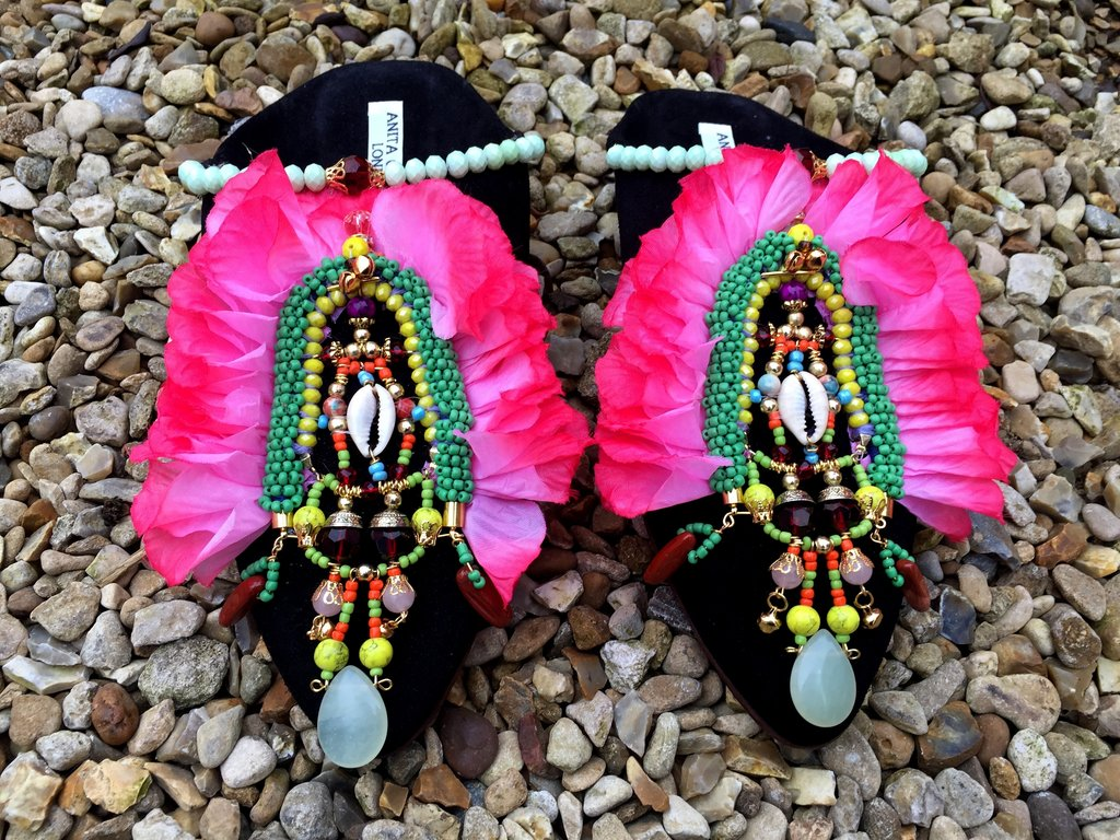 DITA MULE EMBELLISHED SLIPPERS