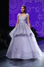 Mauve Peplum Ball Gown