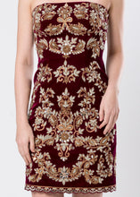 VELVET SHEATH DRESS