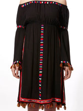 Embroidered Peasant Dress