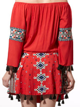 Embroidered Top & Skirt Set