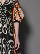Silk Caftan Dress