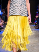 Printed T-Shirt & Fringed Maxi Skirt