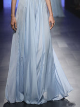 Light Blue Gown With Jacket