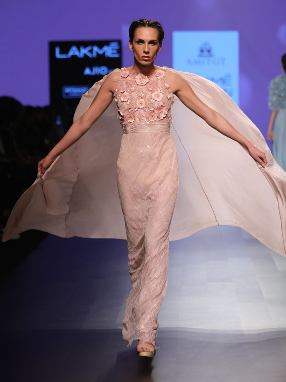 Saree Gown With Cape