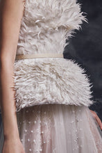 Feather Corset & Embroidered Skirt
