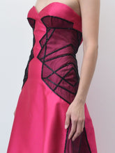 Fuchsia Silk Gown