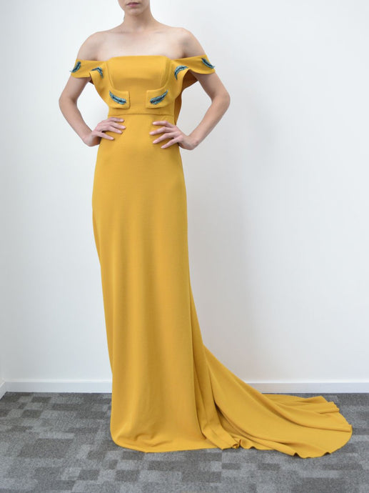 Embellished Yellow Gown