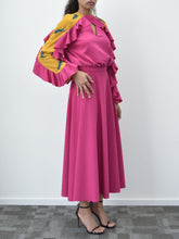 Fuchsia & Yellow Dress