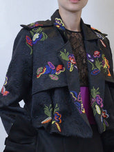 Embroidered Jacket & Silk Pants