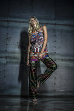 Vibrant Pattern Top & Pants