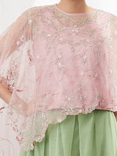 Baby Pink Cape Set with Skirt