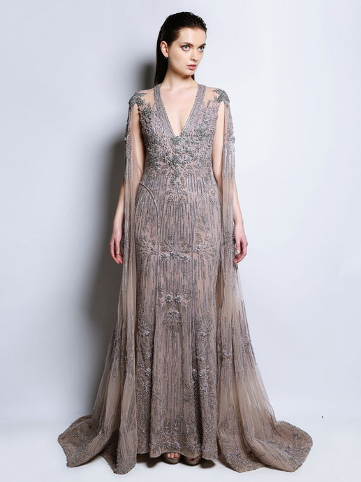 Fully Embroidered Gown