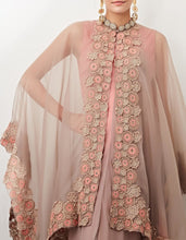 Beige Cape with Shaded Dress