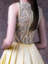 EMBELLISHED SILK DRESS