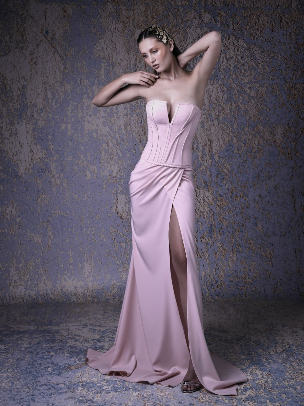 LONG CORSET GOWN
