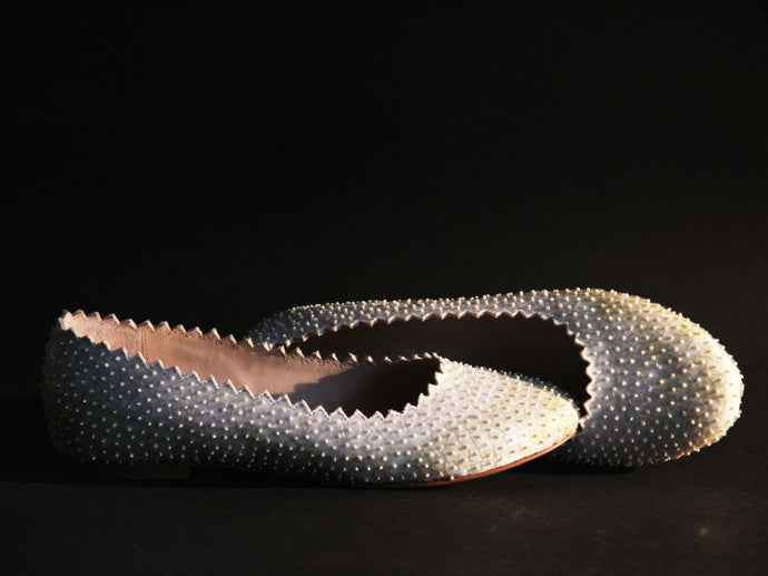 Ivory Glass Slippers