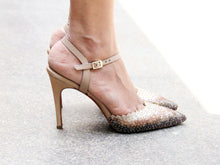 Gold Glass Mule Stiletto