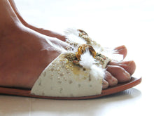 Ivory & Gold Slip-On