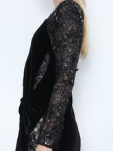 Velvet And Beaded Lace Dress