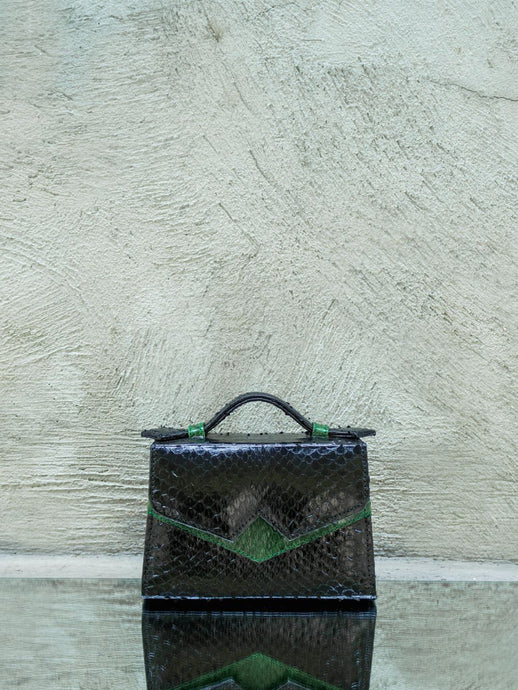 Exotic Black Ayers Skin Handbag