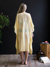 Handwoven Lemon Yellow Caftan