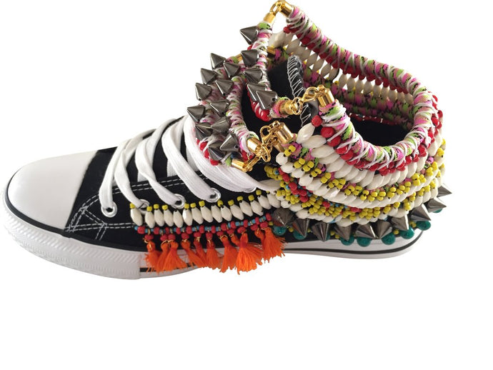 KEYNA EMBELLISHED SNEAKERS