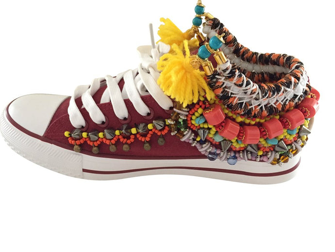 REINA EMBELLISHED SNEAKERS