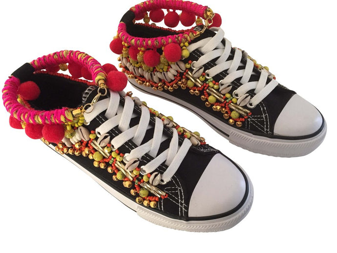 MONET EMBELLISHED SNEAKERS