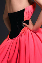 Coral Puff Ball Gown