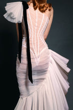 Exquisitely Draped Asymmetrical Gown