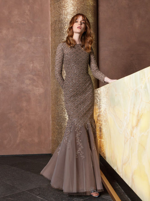 Embroidered Guipure Mermaid Gown