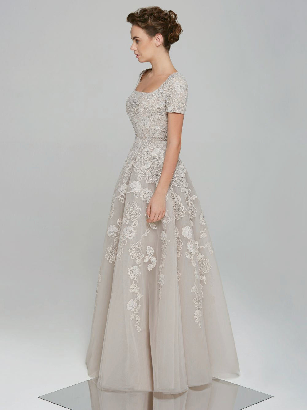 Embellished Guipure Gown