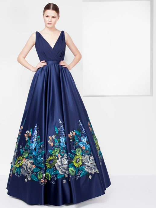 Long Dress With Painted Flowers