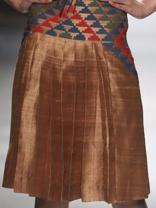 Nomad Pleated Silk Skirt