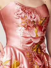 Hand Painted Satin Dress
