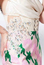 Hand Embroidered Corset Gown