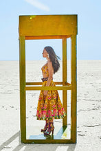 Mustard Embroidered Top & Skirt