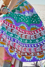 Multi-Coloured Embroidered Top & Skirt