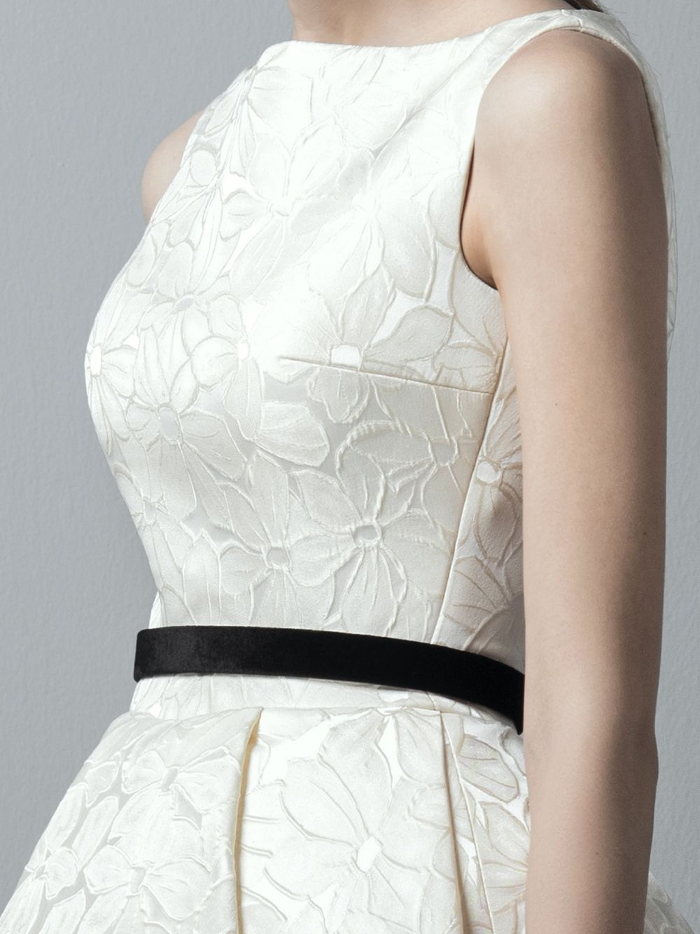 Ivory Brocade Dress – World Wide Couture