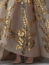 A-Line Dress With Gold Applique