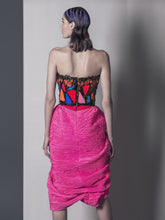 Hand Painted Corset & Draped Skirt