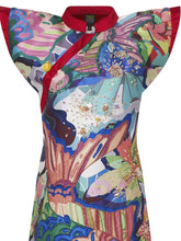 Hand Embellished Printed Dress
